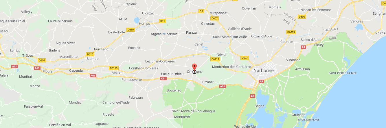 Localisation map du salon